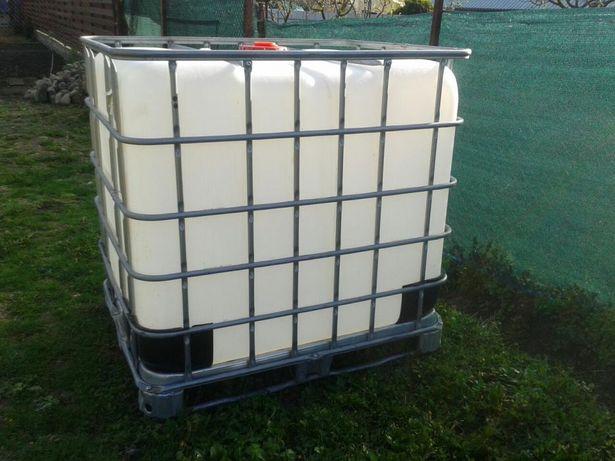 Rezervor butoi recipient cub bazin plastic ibc 600l 1000l grilaj metal