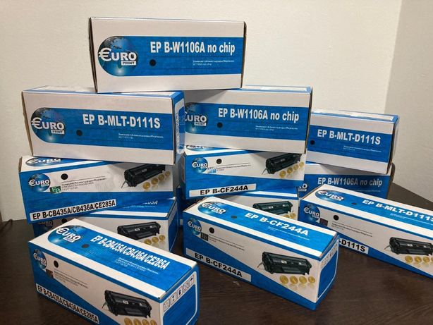 Новые картриджи Euro Print для принтеров HP, Canon и Samsung от 4200тг