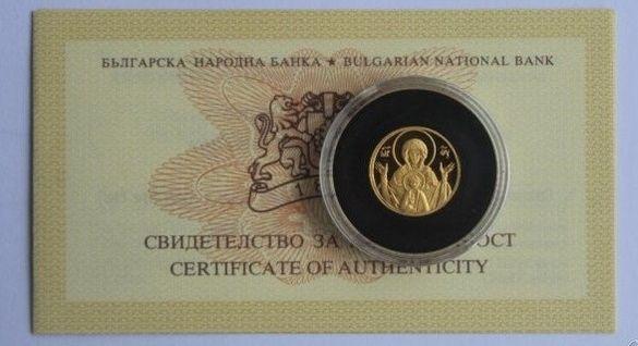 """Златна Монета 20 лева 2003 г. """"Богородица"""""""