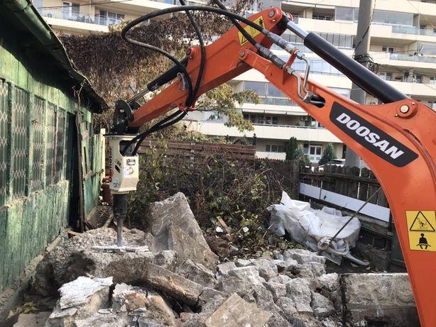 Închiriez miniexcavator E19 NOU cu picon miniescavator excavatoare