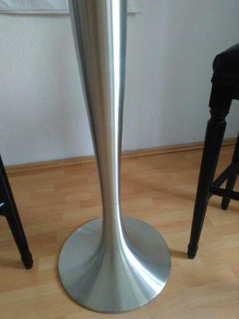 Mobexpert living Masa inalta din sticla, cu 1 picior satinat-f chic