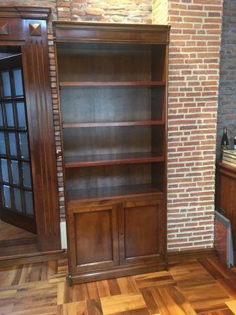 Biblioteca din lemn de nuc masiv, produs Italia
