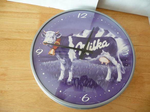 Милка стенен часовник рядък Milka рекламен 2008 г