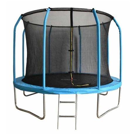 Trambulina cu plasa protectie, Maxim 150 kg, diametru 183 cm, albastra