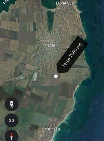 Vand teren in Tuzla pe partea cu Marea jud. Constanta langa intravilan