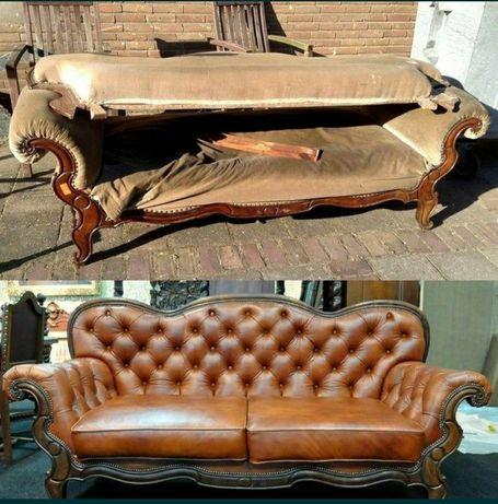 Реставрация мебели. Перетяжка диван. Ремонт мебель. Кровать. Стулья
