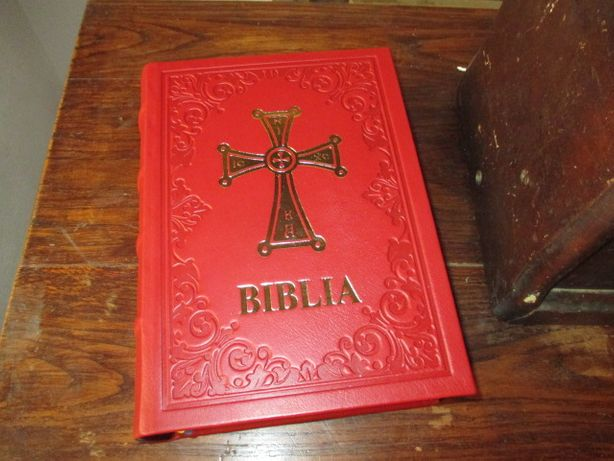 Biblia 1914 legata in piele naturala
