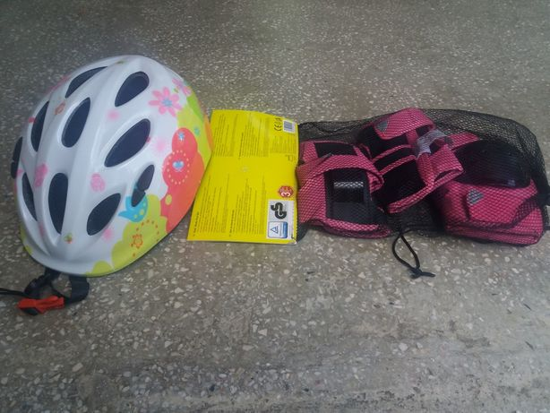 Vand casca copii+protectii role, skatebording, bicicleta