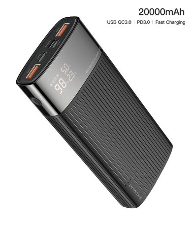 Power Bank KUULAA 20000 QC3.0 павербанк батарея внешний аккумулятор