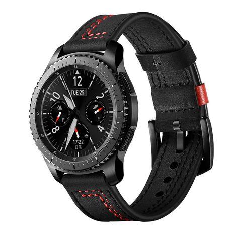 Curea piele 22mm ceas Samsung Watch 46mm Gear S3 Huawei Watch GT
