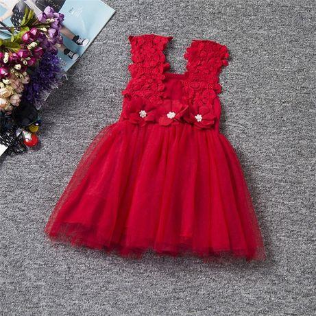 Детска рокля/бродерия/ 19-24 месеца 3 цвята НОВО