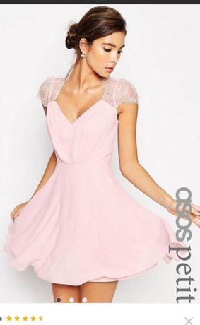 S-M-Нова рокля от шифон Asos, с етикет, UK12, с дантела