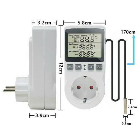 Термостат-таймер-розетка для аквариумов, инкубаторов, холодильников