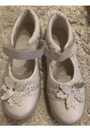 Pantofi/balerini piele, noi,albi, nr 32- funky girl , nu Musette, geox