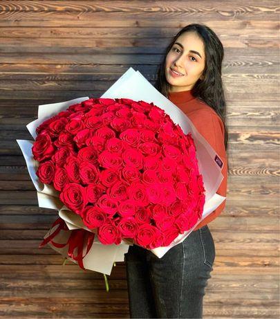 Голландские розы / букет цветов г.Алматы