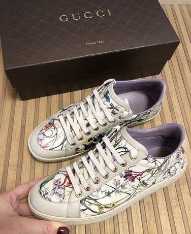 Gucci Flora Limited Edition оригинални дамски кецове естествена кожа