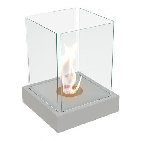 Semineu bio mini cu aspect granit,geamuri laterale si design special