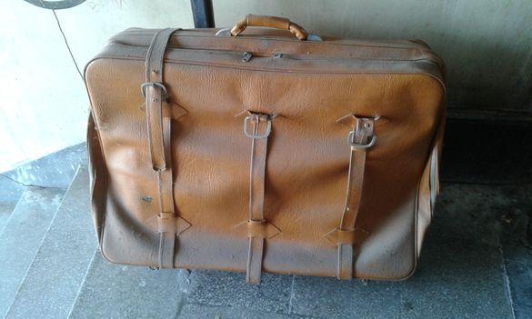 Куфар естествена кожа
