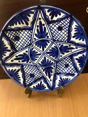 Farfurie decorativă ceramica, pictata manual, Spania