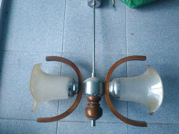 Красив лампион с два плафона