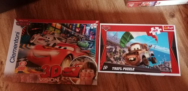 Set 2 puzzle-uri cars 104 și 100 piese