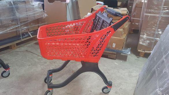 Пазарска количка пластмасова 100 литра
