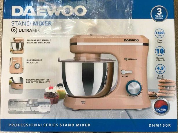 Mixer cu bol Daewoo DHM150R, 1600 W, 10 viteze plus puls, 4,5 L