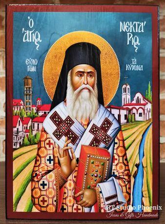 Икона на Свети Нектарий Егински Чудотворец ikona sveti nektarii