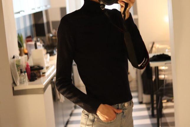 Pulover bleumarin Zara, mar XS