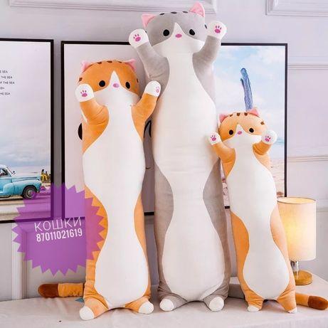 Кошка колбаска мягкие игрушки кошки плюшевые мишки