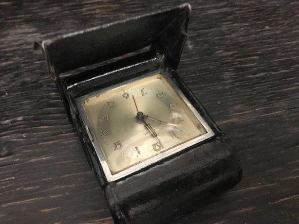 Ceas vintage Kienzle de voiaj cu portofel piele, foarte vechi