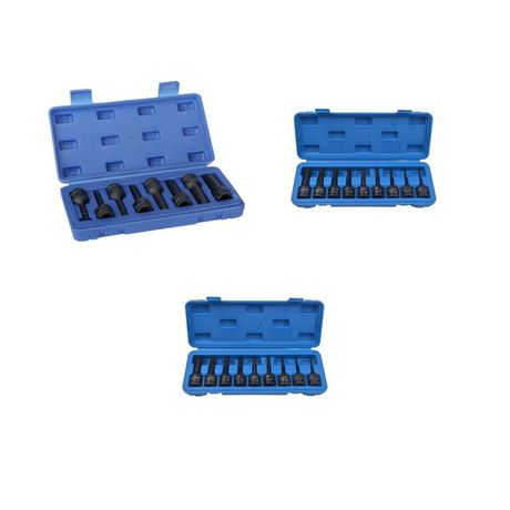TRUSA SET Biti M5-M18 / Torx T30-T80 / Imbus H5-H19  1/2