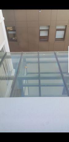 Terase balcoane de sticlă aluminiu și fier cu geam termopan sau simplu