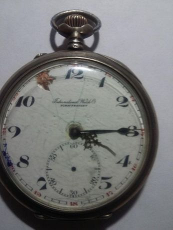 серебрянные швейцарские часы Shafthausen