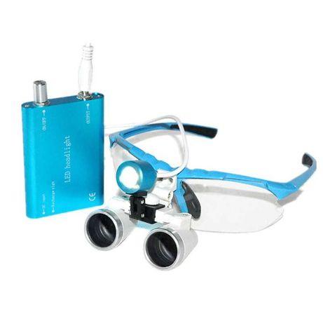 Ochelari cu lupe 3.5X + iluminare LED dentist/chirurgie/medical