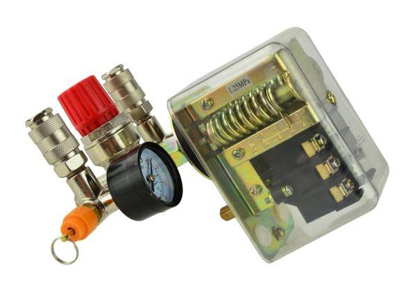 К-кт трифазен пресостат за компресор с бързи връзки и манометът 400V