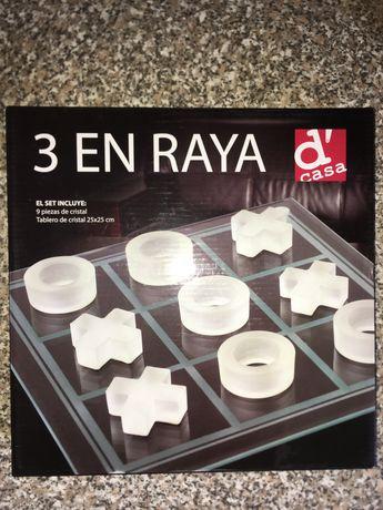 Joc X si cu piese si tabla din cristal 25x25 cm