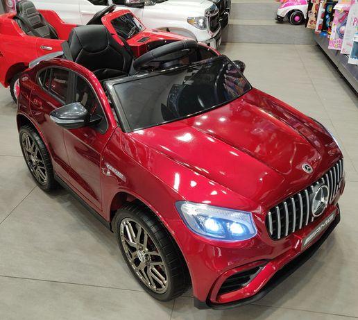 Masinuta Electrica Mercedes GLC 63s Rosu Visiniu lucios, Roti Eva, 12V
