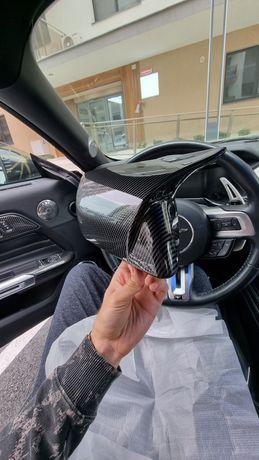 Vând set capace oglinda din fibra carbon model pt Ford Mustang 15-19