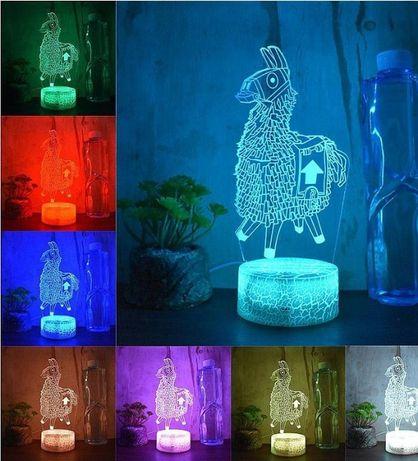 Fortnite 3D LED нощна лампа настолна Фотрнайт лед осветлениеFortnite 3