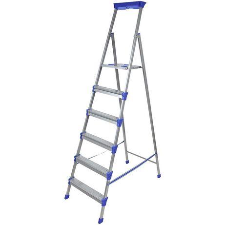 Лестница - стремянка металлическая широкие 6 ступени Nika (Ника) СМ6