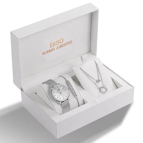 Set cadou - Set de bijuterii pentru femei - Argintiu