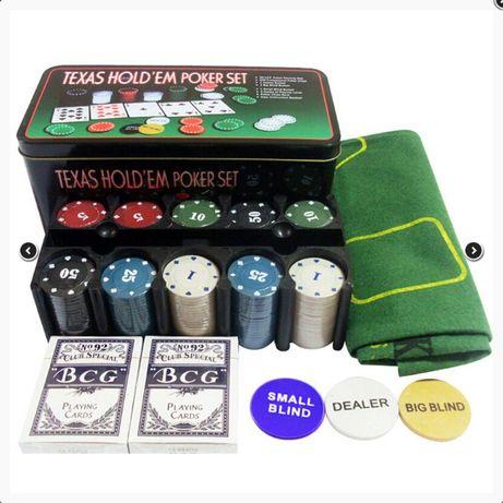 Покерный набор Texas Holdem, 200 фишек (Poker)