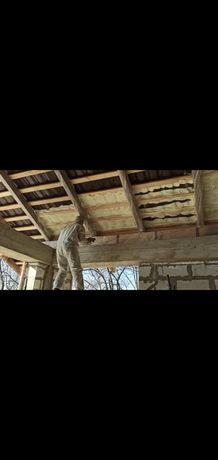 Утепления крыш ангары методом напыления пенополиуретаном