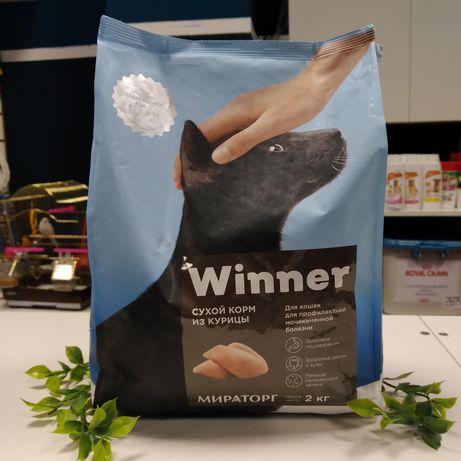 Корм Виннер 2 кг от Мираторг, Winner сухой корм уринари