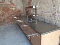 Плот за издаване на храна с тръбен път и бен мари