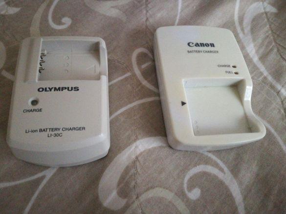 Оригинални зарядни за батерии Olympus LI-30C , Canon CB-2LYE