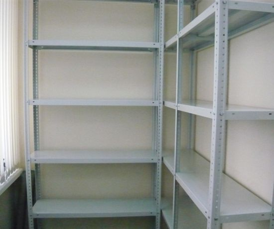 Стеллажи складские архивные металлические полки