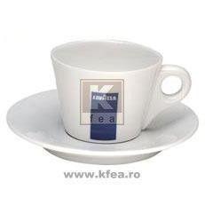 Lavazza cesti espresso dublu cu farfurii ceramica 6buc