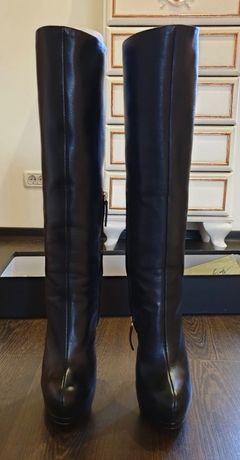 Cizme negre, piele, platforma, Giuseppe Zanotti Design, 900 ron